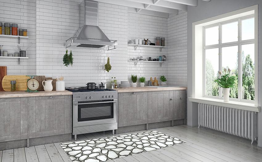 Interieur einer skandinavische, nordische Küche - Wohnung