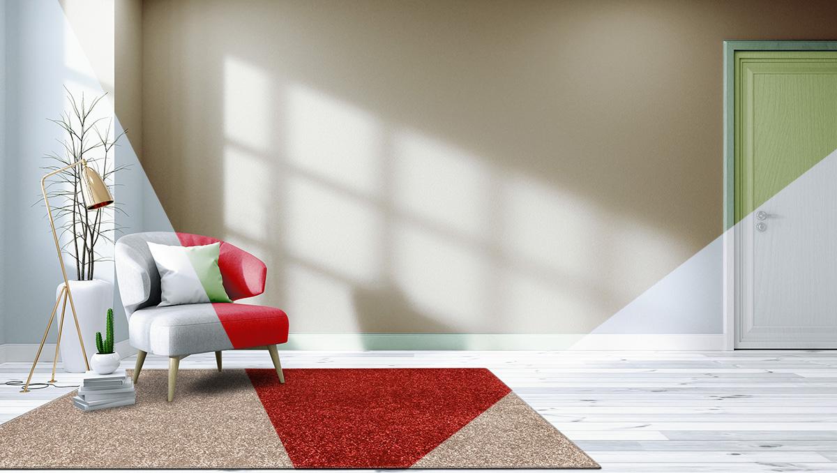 Tappeti total white o colori per arredare casa