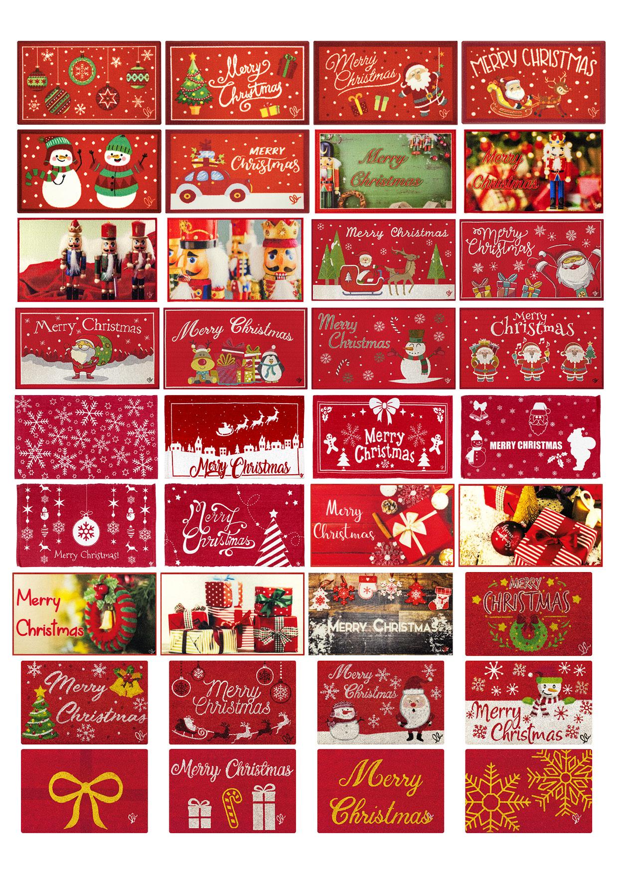 tappeti e zerbini di Natale