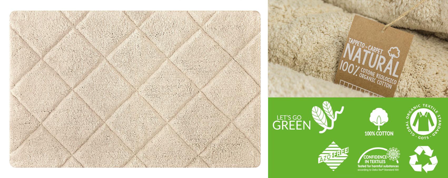 tappeti in cotone biologico per regali green