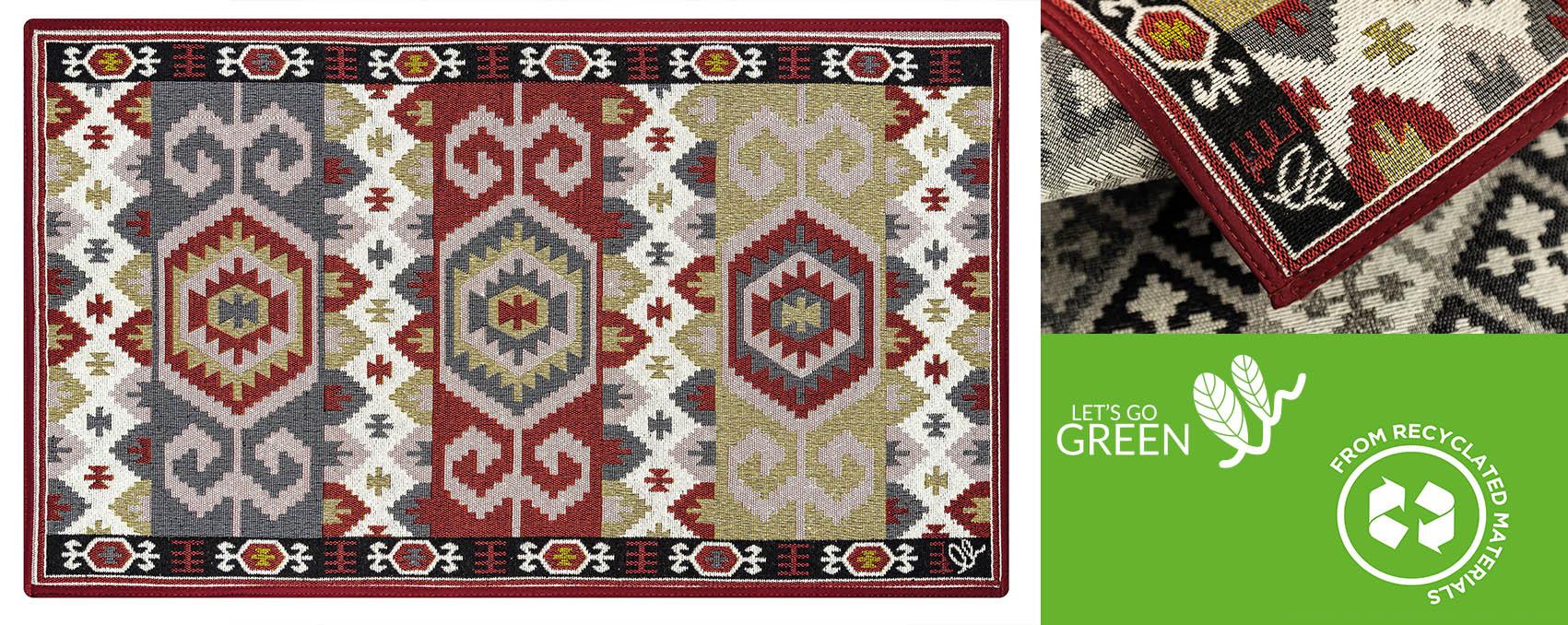 tappeti in cotone per regali green riciclabile