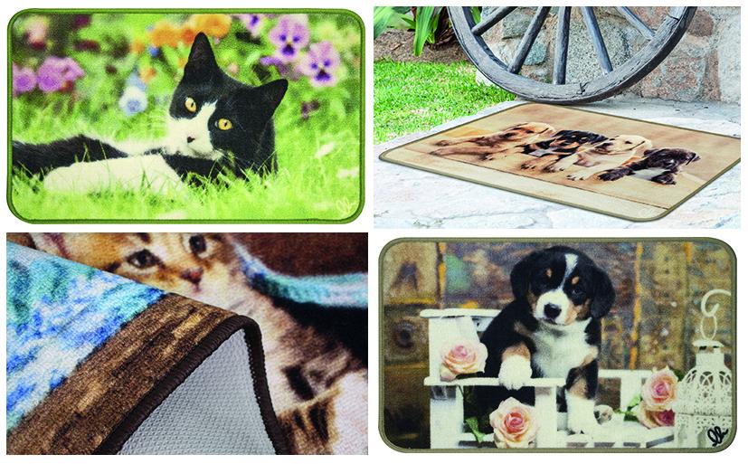 ANIMAL DIGITAL tappeto multiuso fantasia cuccioli